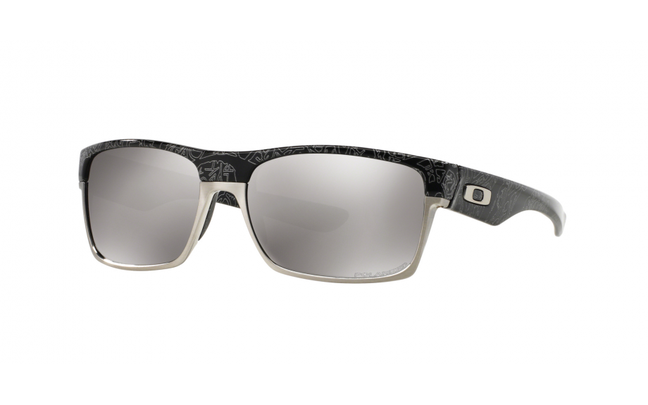 fc46e46ef04 Oakley Two Face Polished Black Silver Ghost Text OO9189-14 - Free Shipping