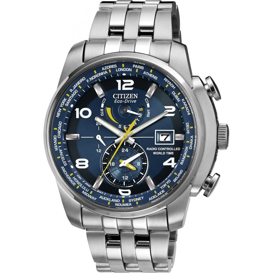 aec5c8ab820b Eco-Drive World Time A.T WR200 AT9010-52L Citizen Watch - Free Shipping