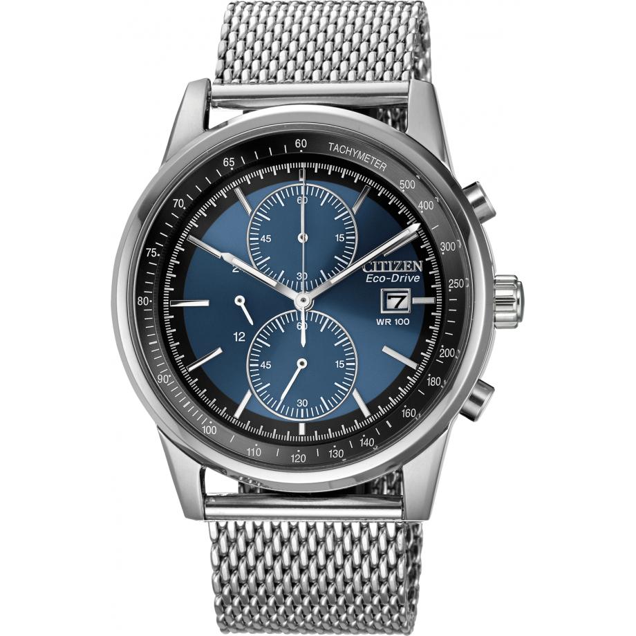 b6fed898a244 Eco-Drive Mesh Bracelet WR100 CA0331-56L Citizen Watch - Free Shipping